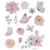 Flowers & Butterflies Watercolor Stickers