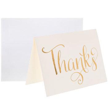 Foil Thanks Cards