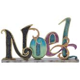 Multi-Color Glitter Noel Metal Decor