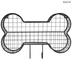 Black Dog Bone Wire Wall Basket With Hooks