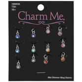 Mini Iridescent Rhinestone Charms