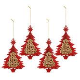 Red & Gold Glitter Tree Ornaments
