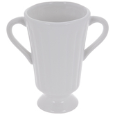 White Ridged Mini Vase
