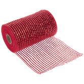 Red Premium Metallic Deco Mesh Ribbon