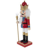 Red & Blue Soldier Wood Nutcracker