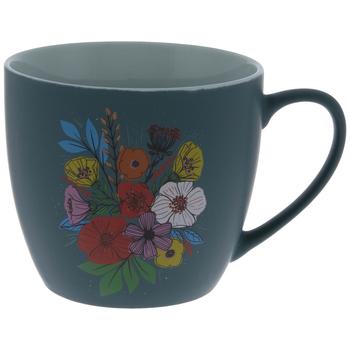 Teal Floral Mug