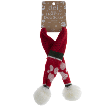 Red Holiday Dog Scarf - Small