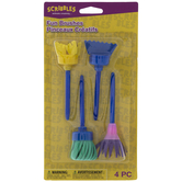 Fun Foam Paint Brushes - 4 Piece Set