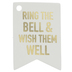 White & Gold Bell Tags