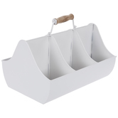 White Sloped Metal Caddy