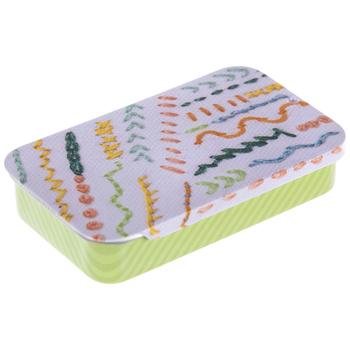 Stitching Patterns Tin Needle Box