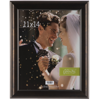 Pewter Two Tone Wood Wall Frame