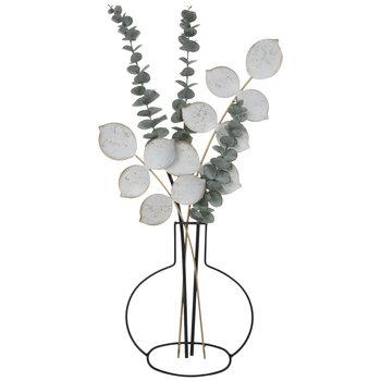 Eucalyptus In Vase Metal Wall Decor