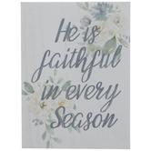 He Is Faithful Wood Decor