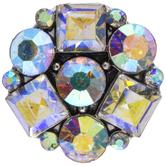 Crystal AB Flower Snap Charm