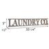 Laundry Co Wood Wall Decor