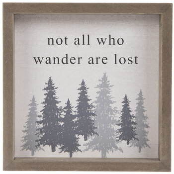 Not All Who Wander Are Lost Wood Decor