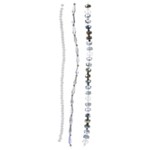 Blue & Gray Faceted Mixed Bead Strands