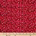 Red Multi Spot Cotton Calico Fabric