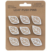Leaf Wood Push Pins