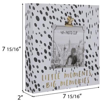 "Big Memories Wood Clip Frame - 4"" x 4"""