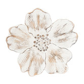 Distressed White Flower Wall Decor - Medium