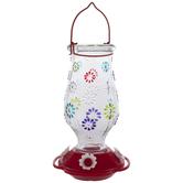Floral Jar Hummingbird Feeder