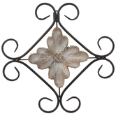 Rustic Scroll Medallion Metal Wall Decor
