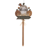 Welcome To Our Patch Wood Garden Stake
