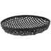 Black Round Woven Wall Basket - Large