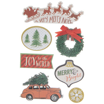 Traditional Christmas 3D Stickers