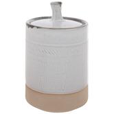 Beige & White Two Tone Jar