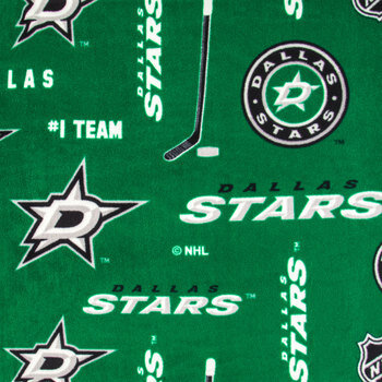NHL Dallas Stars Allover Fleece Fabric