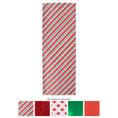 Red, Green & White Mixed Tissue Paper