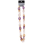 """Purple & Pink Chain Link Necklace - 24"""""""