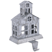 Silver Church Metal Stocking Holder
