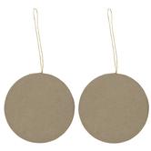 Paper Mache Disk Ornaments