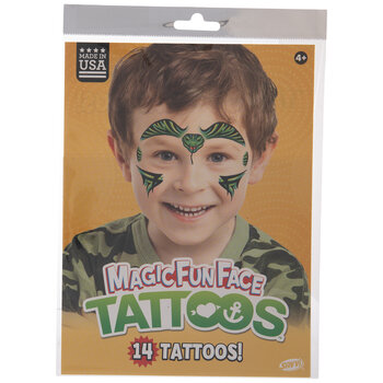 Cobra Temporary Face Tattoos