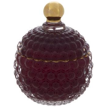 Purple & Gold Hobnail Glass Jar