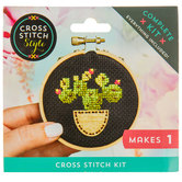 Cactus Mini Cross Stitch Kit