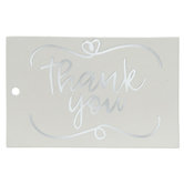 White & Silver Thank You Favor Tags