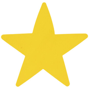 Yellow Star Wood Shapes