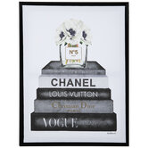 Stacked Fashion Books Canvas Wall Decor