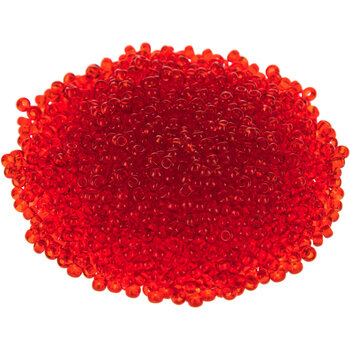 Vintage Czech Glass 150 Seed Beads Deep Red