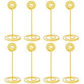 Yellow Swirl Top Place Card Holders