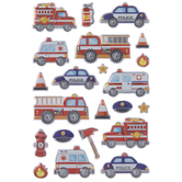 Emergency Vehicle Puffy Stickers