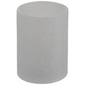 Iridescent White Glitter LED Pillar Candle