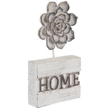 Whitewash Home With Flower Decor