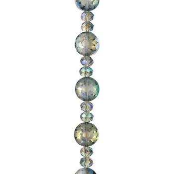 Faceted Disc Glass Bead Strand