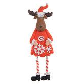 Moose In Snowflake Dress Ornament
